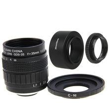 Fujian 35mm F1.7 CCTV lente Filme + C-N1 Mount Anel + Capa de Lente + Macro anel para nikon 1 j5 s2 j4 j3 j2 j1 v1 v2 v3 s1 aw1