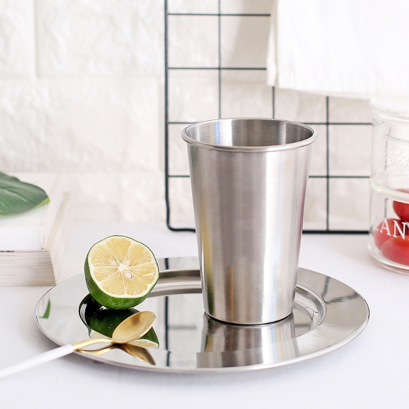 500ml 304 Stainless Steel Cups Tumbler Pint Glasses Metal Cold Cup Drinking Cup #0622 ...