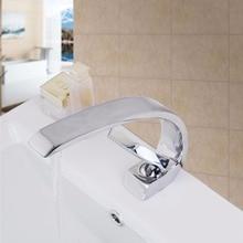 Новые однотонные латунь ванной смеситель холодной и горячей кухонный кран на одно отверстие водопроводной воды кухонный кран 9910