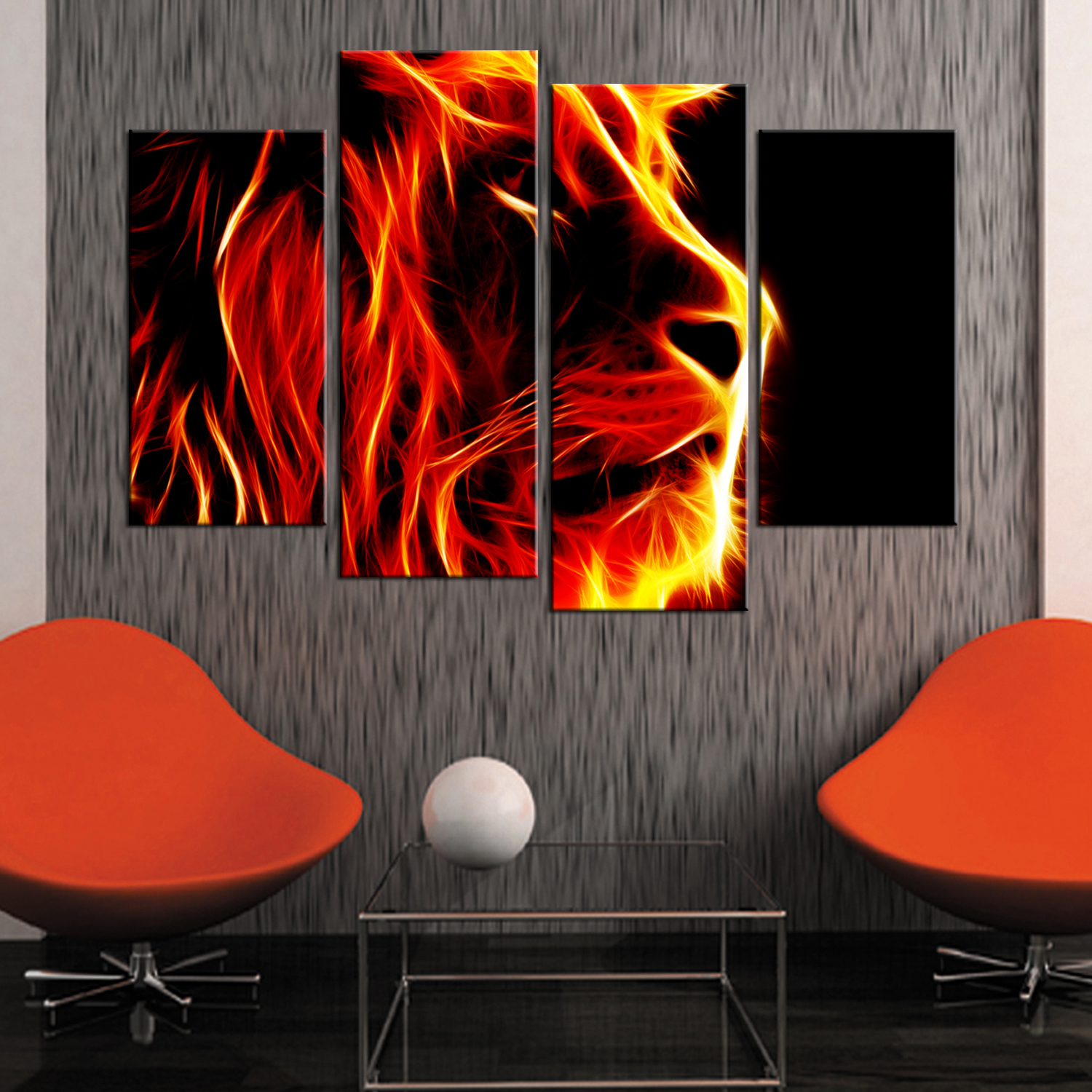 Drop Shipping 5 Piece Canvas Art Lion King Modular Paintings