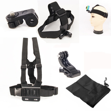 For Xiao Yi Camera Accessories Set Chest Belt Head Mount Strap With Tripod Adapter For Xiaoyi SJCAM SJ4000 Gopro Hero4 3 2
