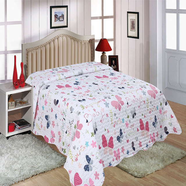 couvre lit en boutis ore twintails floral bedspread linen skirted