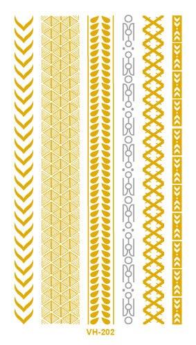 Nueva Transferencia de Agua Del Tatuaje de Oro de la Astilla de Oro Pulsera Lin