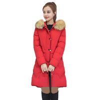 Best Selling Women High Quality Warm Coat Slim Fit Hooded Long Sleeve Outwear Thick Fur Collar Jacket Wholesale Size S XL