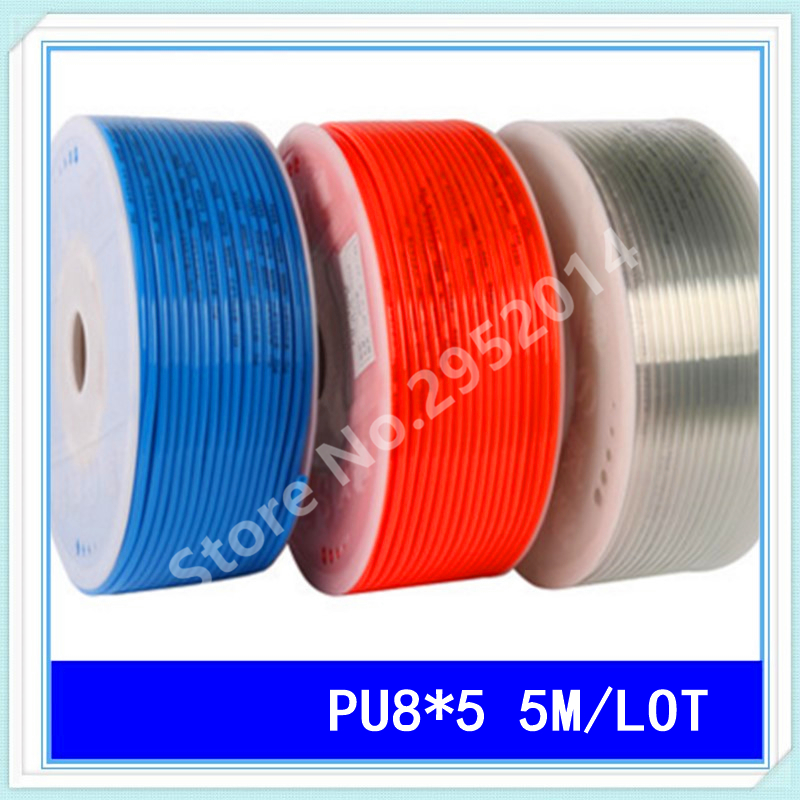 PU8*5 5M/LOT Pneumatic tube pneumatic hose for air pressure hose pipe 8MM OD 5MM ID PU8 tu0425bu 100 tu0604bu 100 tu0805bu 100 tu1065bu 100 tu1208bu 100 smc pneumatic blue air hose hose length 100m