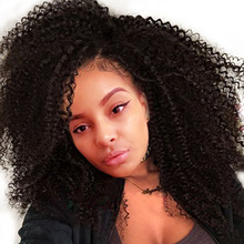 Kinky Curly 250% Density Lace Front Human Hair Wigs For Black Women Full End Pre Plucked Bleached Knots Remy Hair Sunny Queen
