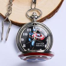 Модные кварцевые карманные часы catptain в американском стиле