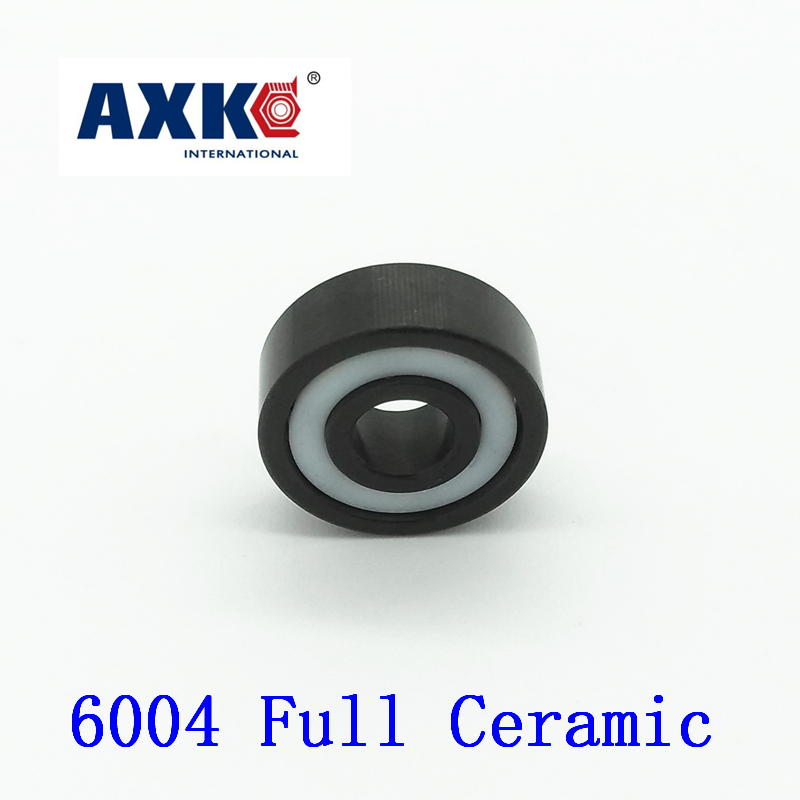 2017 Rodamientos Axk 6004 Full Ceramic Bearing ( 1 Pc ) 20*42*12 Mm Si3n4 Material 6004ce All Silicon Nitride Ball Bearings 20mm bearings 6004 full ceramic si3n4 20mmx42mmx12mm full si3n4 ceramic ball bearing