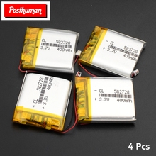 POSTHUMAN 1/2/4 Pieces 3 7V Volt Li Po Ion Lipo Lithium Polymer Tablet PC E-book Headphone PDA Rechargeable Li Polymer Battery 3795105p replacement 3 7v 4000mah li polymer battery for 7 10 inch macbook samsung acer sony apple tablet pc