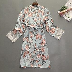 Image 4 - Mùa Hè Nữ Ngủ Áo Dây Bộ Đồ Ngủ Đồ Ngủ Nữ Mặc Nhà Váy Ngủ Gợi Cảm Kimono Tắm Bầu Sleepshirts M XL