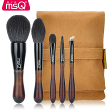 MSQ 5pcs Professional High-quality Raccoon fur Brushes kit Powder makeup brush  Eyebrow brush Wool Eye shadow brush Makeup tools цена