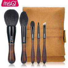 MSQ 5pcs Professional High quality Raccoon fur Brushes kit Powder makeup brush Eyebrow brush Wool font