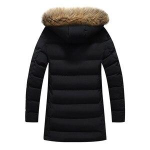 Image 2 - New Winter Mens Parkas Coats 웜 자켓 캐주얼 파카 남성 롱 자켓 캐주얼 슬림 피트 후드 의류 대형 5XL 6XL