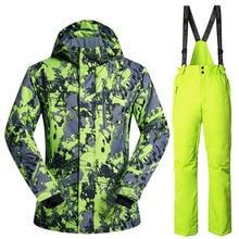 2016 Brand Winter Ski Suit Mens Snowboard Jacket Pants Waterproof Windproof Thermal Outdoor Skiing Clothes