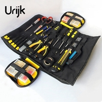 Urijk 2Colors Oxford Canvas Repairing Tool Bag Multifunctional Set Kit Rolled Portable Chisel Pliers Electricworking Woodworking