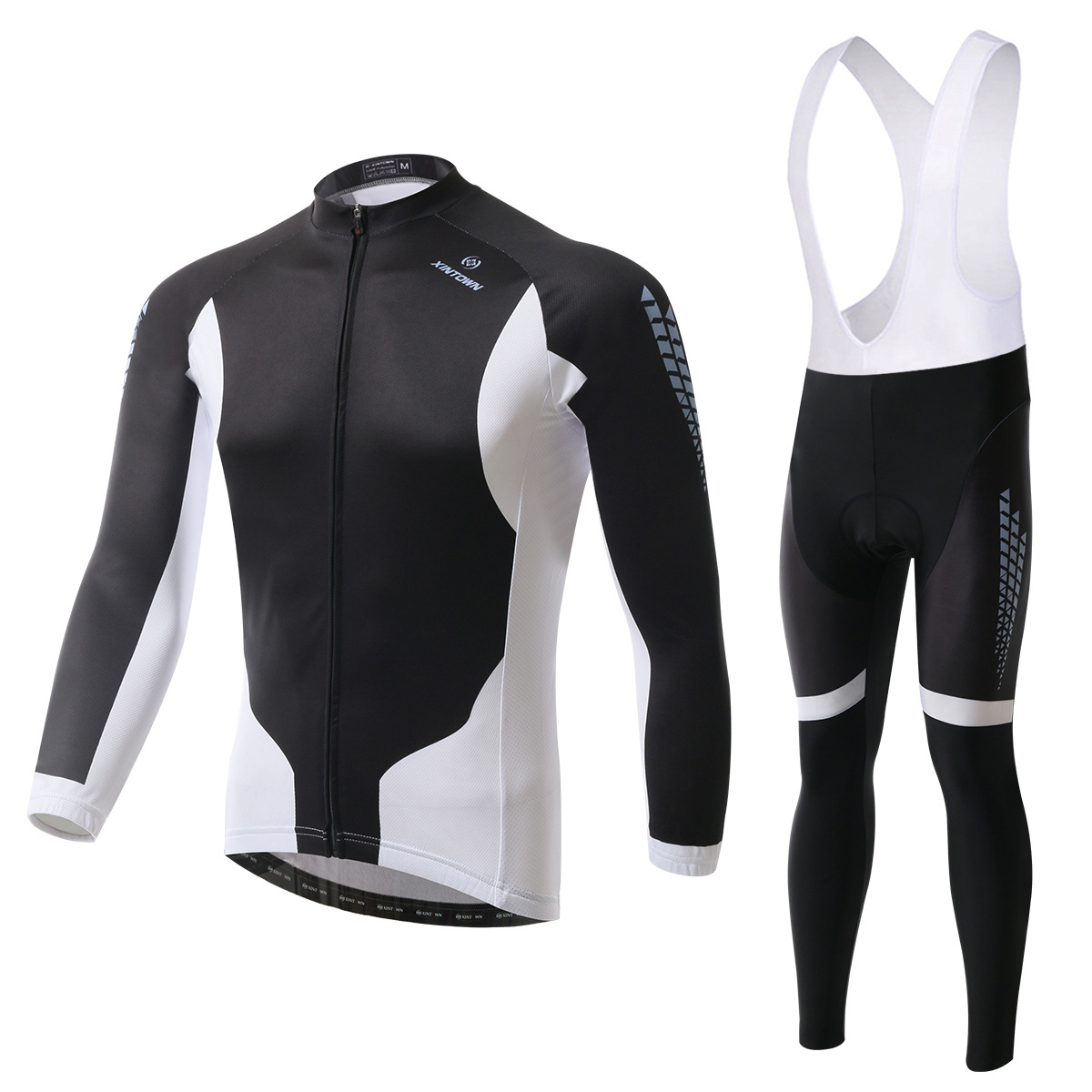 XINTOWN black Jazz bike riding jersey long sleeve suit wear bicycle suits fleece wind warm functional underwear