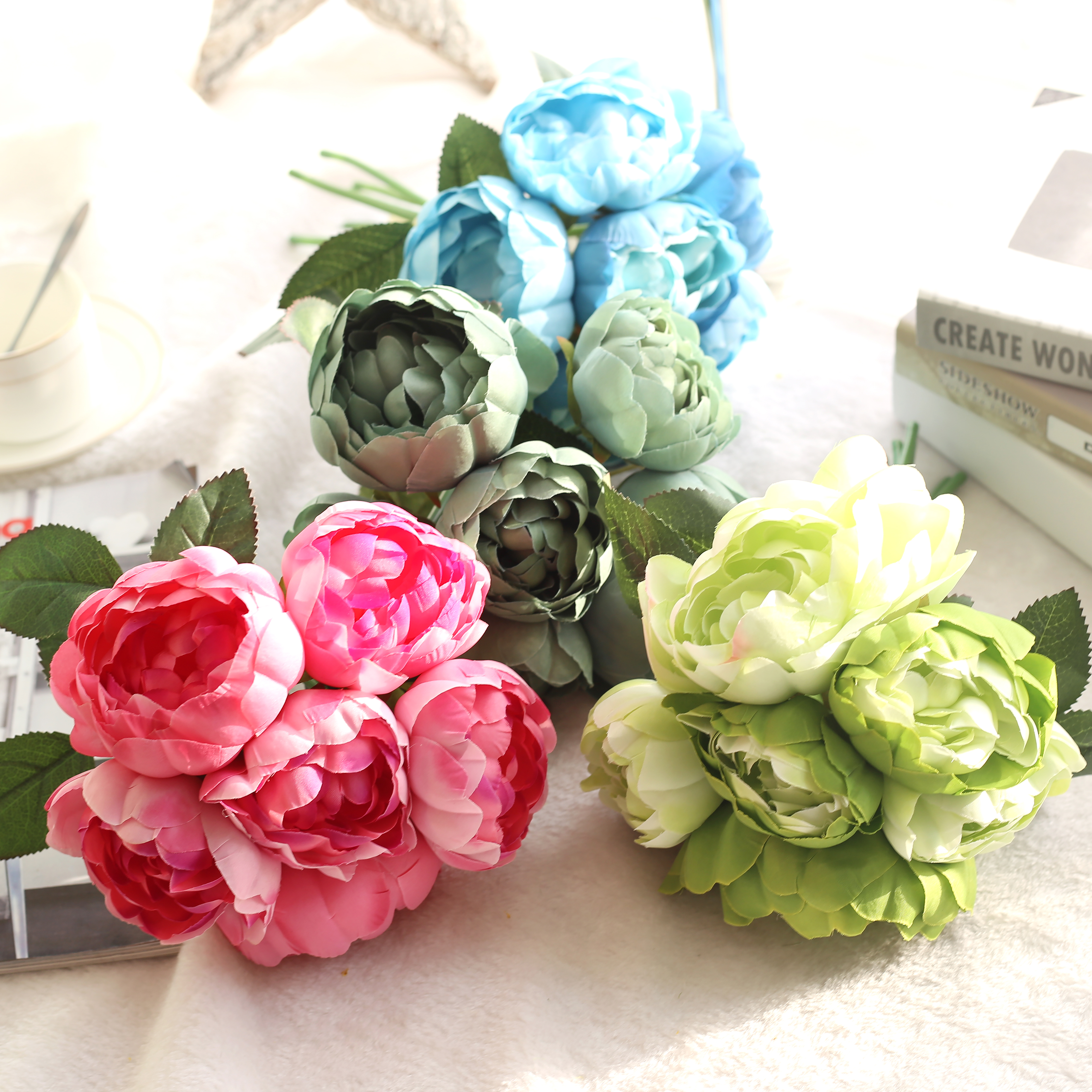 6 headbouquet damascus round flower artificial rose flowers wedding 6 headbouquet damascus round flower artificial rose flowers wedding party decoration silk flowers home festival decor p15 in artificial dried flowers izmirmasajfo