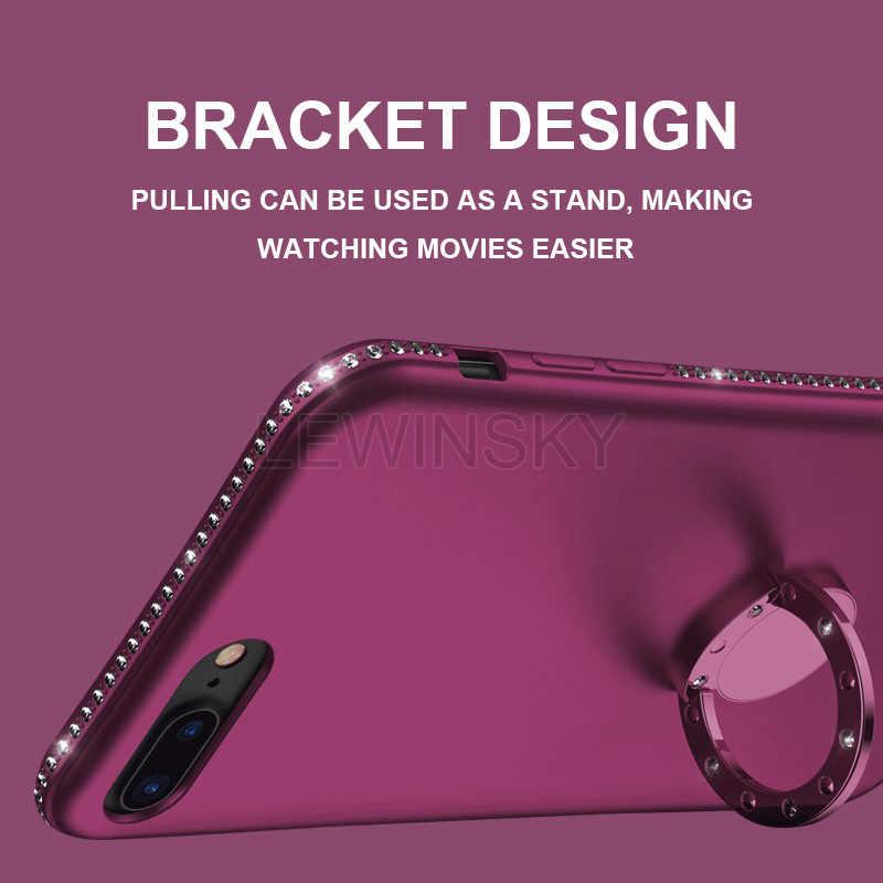โทรศัพท์กรณีสำหรับ iPhone 5 5 s SE X Glitter Rhinestone ซิลิโคนลูกอมสี Diamond Bling Case สำหรับ iPhone 7 6 8 6 S Plus 5 ฝาครอบ