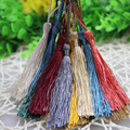 50pcs/lot 8+5cm Length Gold and Silver Long Rayon Thread Tassels Charms for DIY Women Earrings Jewelry Materials Wholesale