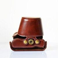 DSLR Камера сумка из искусственной кожи Камера видео сумка чехол для Olympus E-M10 EM10 микро-slr Камера сумка + плечевой кожаный ремешок