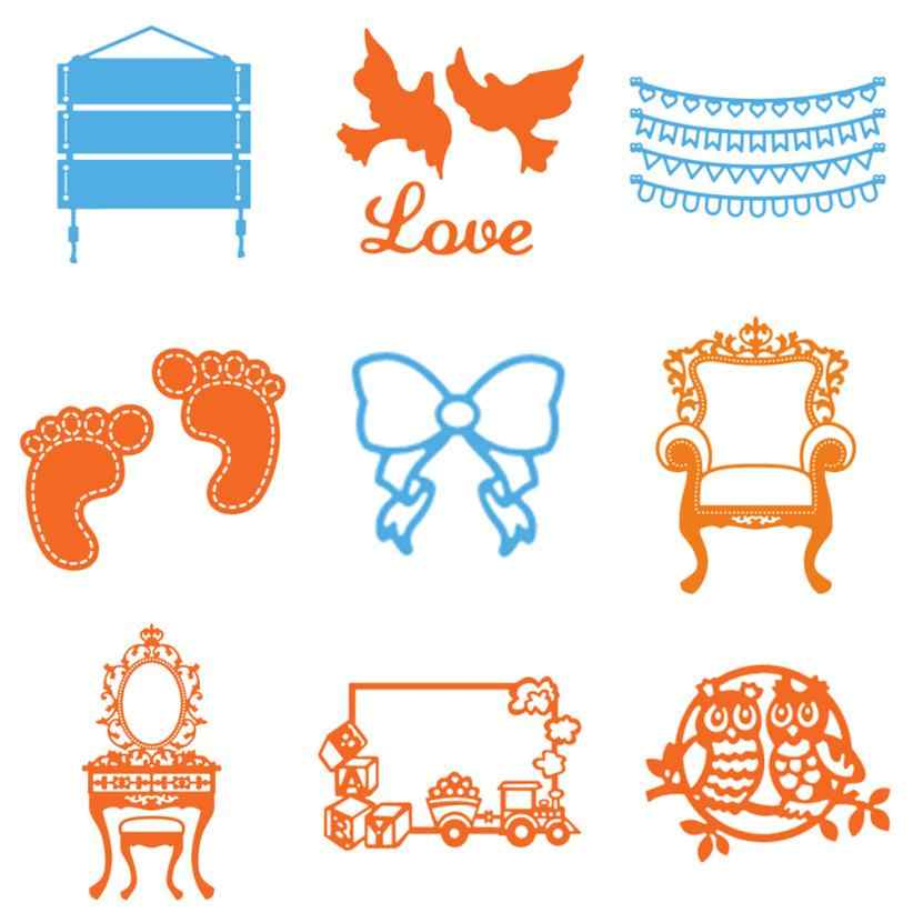 Happy Christmas Cutting Dies Stencils for DIY Scrapbooking photo album Decorative Embossing Craft metal cutting dies
