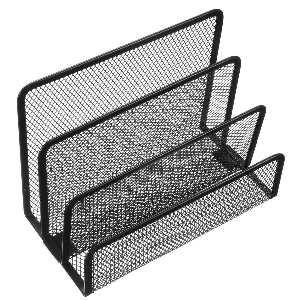 Mesh Letter Sorter Black Mail Document Tray Desk Office File Organiser  Business Makeup Tool Kits In Makeup Scissors From Beauty U0026 Health On  Aliexpress.com ...