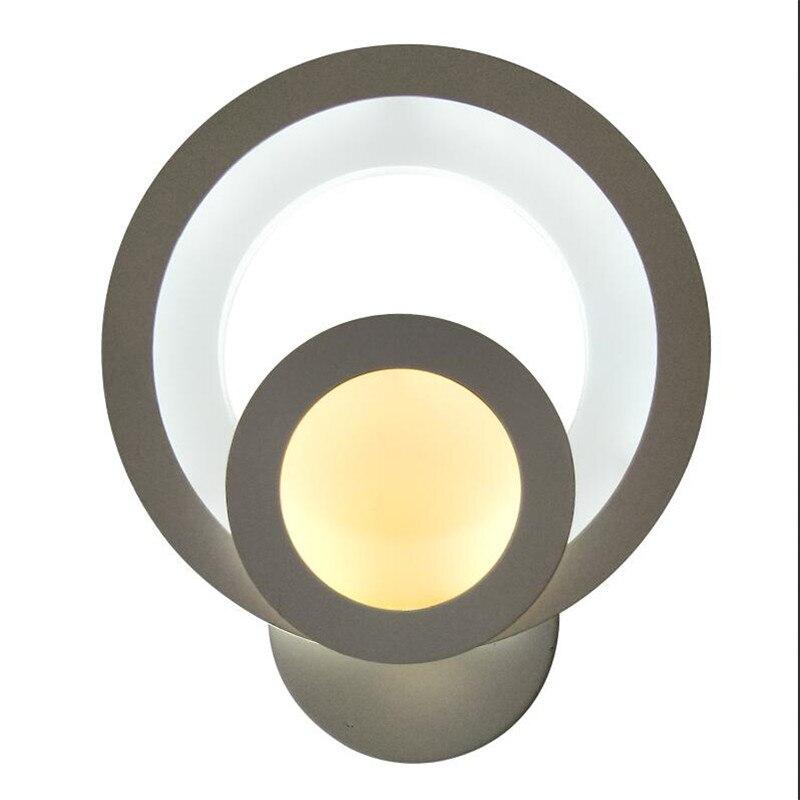 18 Вт светодиодный светильник настенный белая акриловая Настенные Бра Ночники для Спальня Ванная комната бра Современный AC85-260V Brace стены све...
