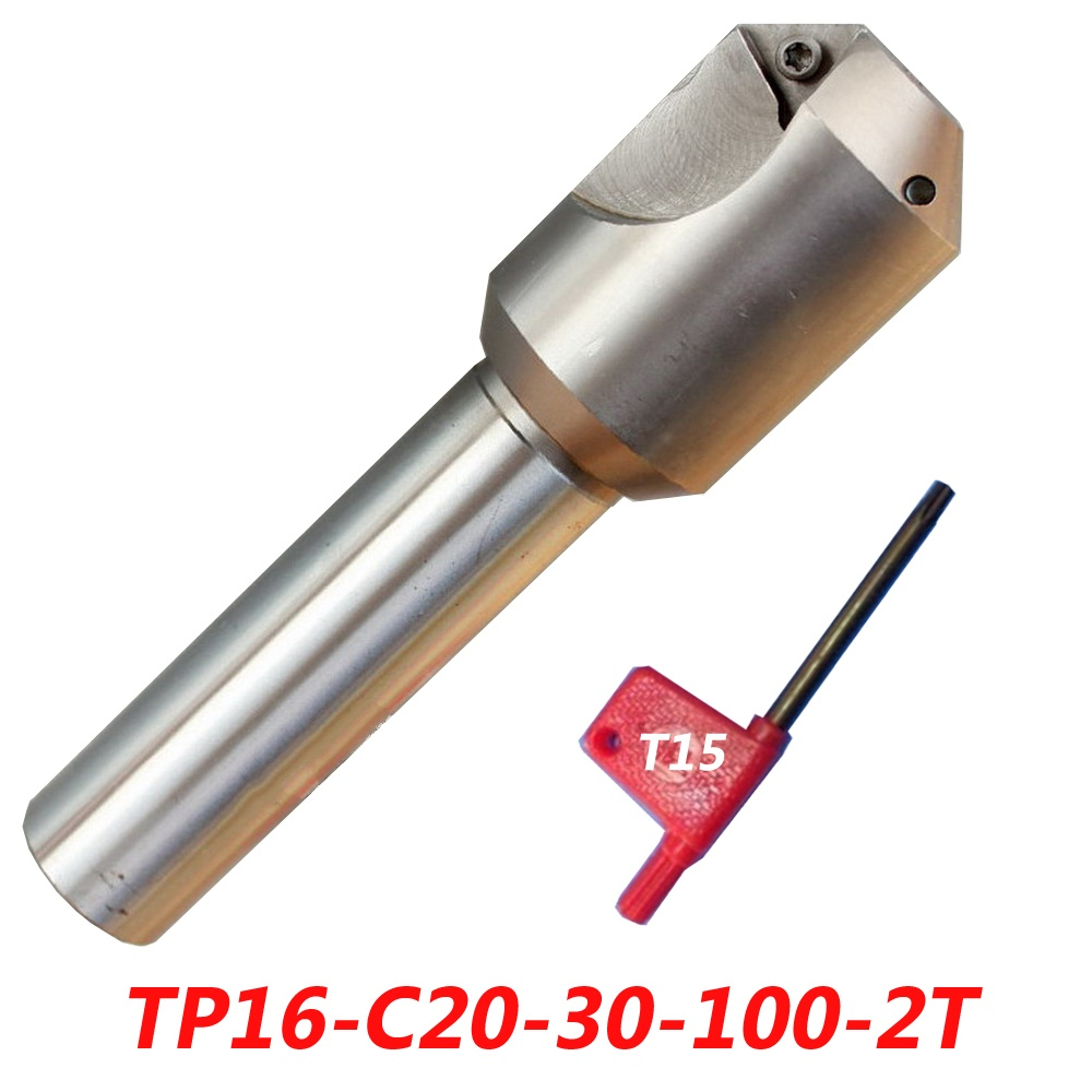 Free Shipping TP16-C20-30-100-2T Insertable Shoulder Face Mill For TPMN1603 Carbide Insert free shiping1pcs aju c10 10 100 10pcs ccmt060204 dia 10mm insertable bore drilling end mill cutting tools arbor for ccmt060204