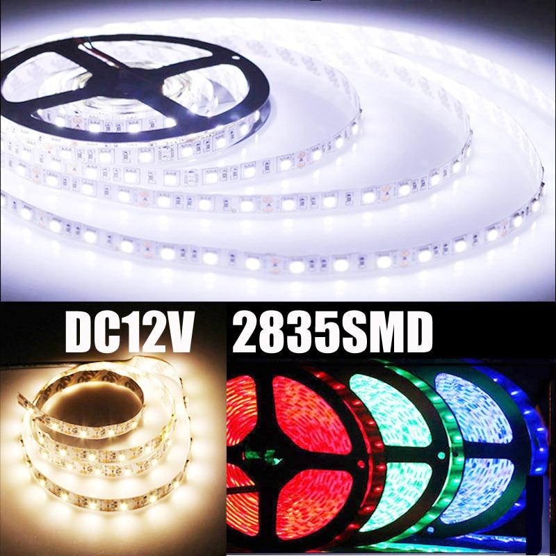 2835 SMD RGB Led Strip Light 60Leds M DC 12V Non Waterproof Kitchen Cabinet Counter LED