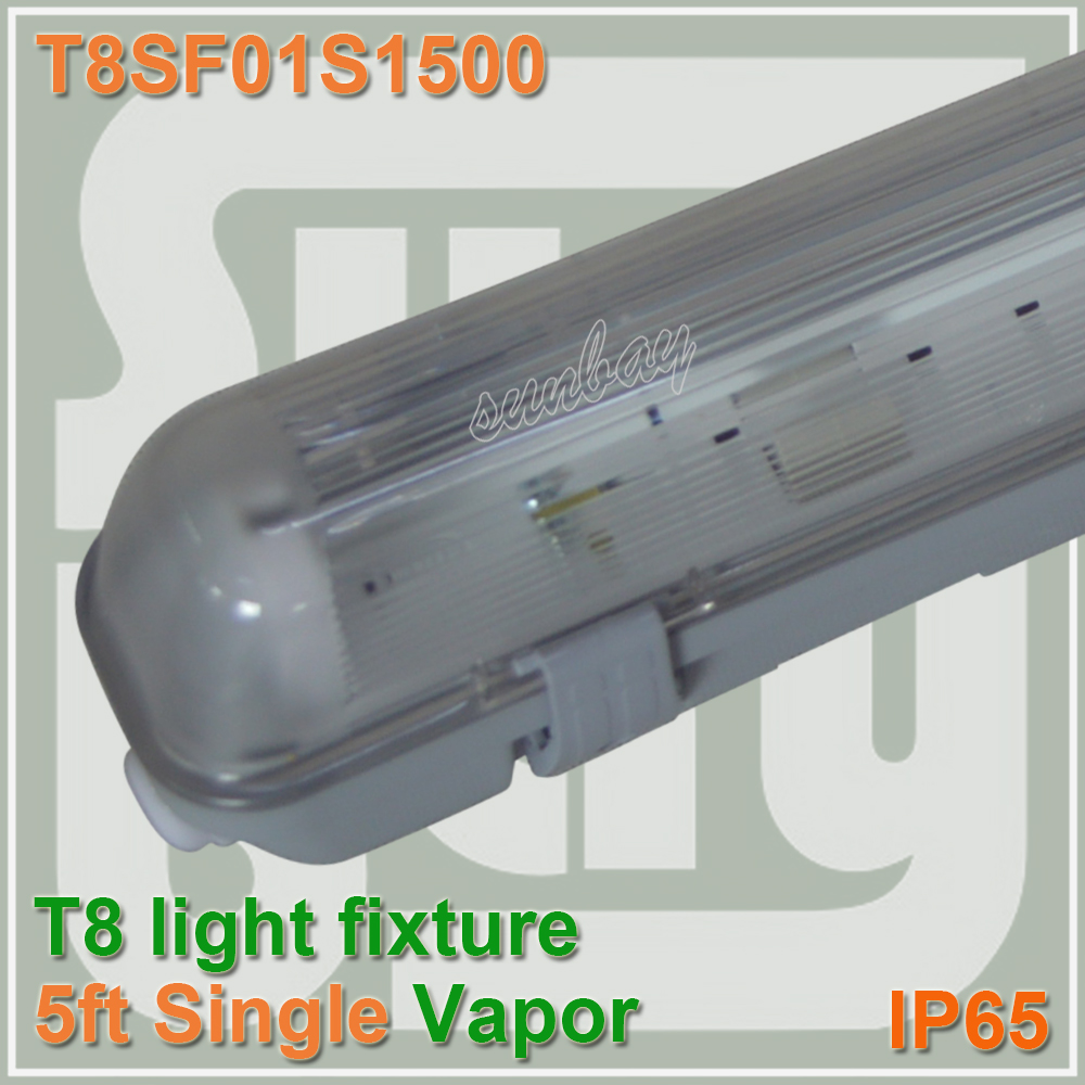 Free Shipping IP65 5FT LED Batten Light Fixture Water Vapor Tight Ceiling For One T8 Bulb Tube