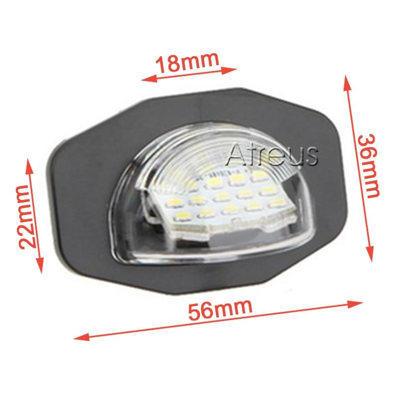 2X LED φώτα πινακίδας αυτοκινήτου 12V SMD3528 - Φώτα αυτοκινήτων - Φωτογραφία 5