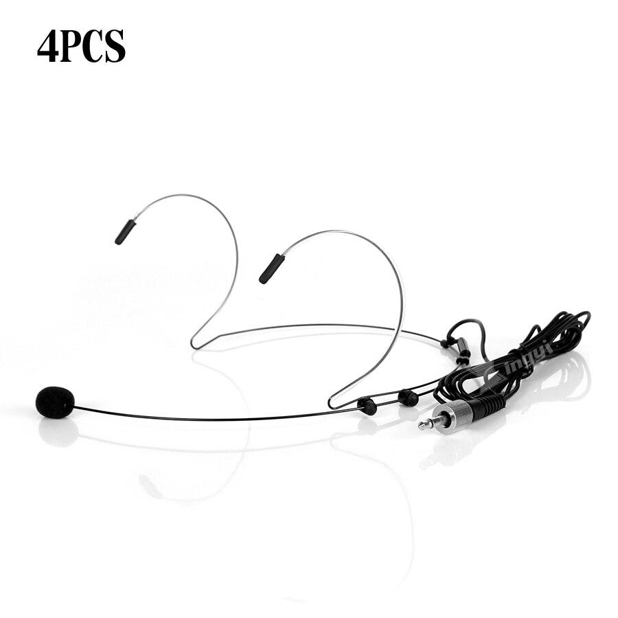 4 pièces Mini 3.5mm Jack vis verrouillable double crochet d'oreille micro casque porté micro micro micro micro micro pour émetteur de système sans fil