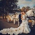 BacklakeGirls Люкс Русалка Свадебные Платья 2017 Собор Царский Поезд Кружева Невесты Платья Прополка Платье