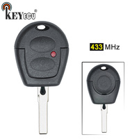 KEYECU 1x/ 3x 433MHz Keyless Entry 2 Button Remote Car Key Fob for Volkswagen GOL with Uncut Blade