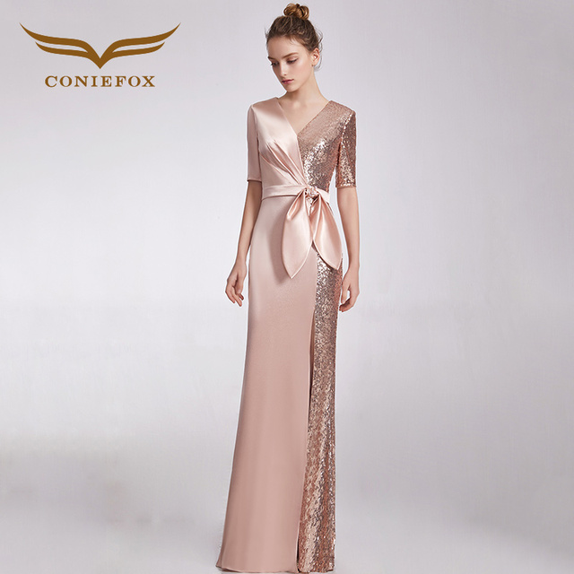 CONIEFOX 32838 Sequins Fashion sexy mermaid Ladies Retro elegance Appliques  prom dresses party evening dress gown long new 5fa9d72a313d