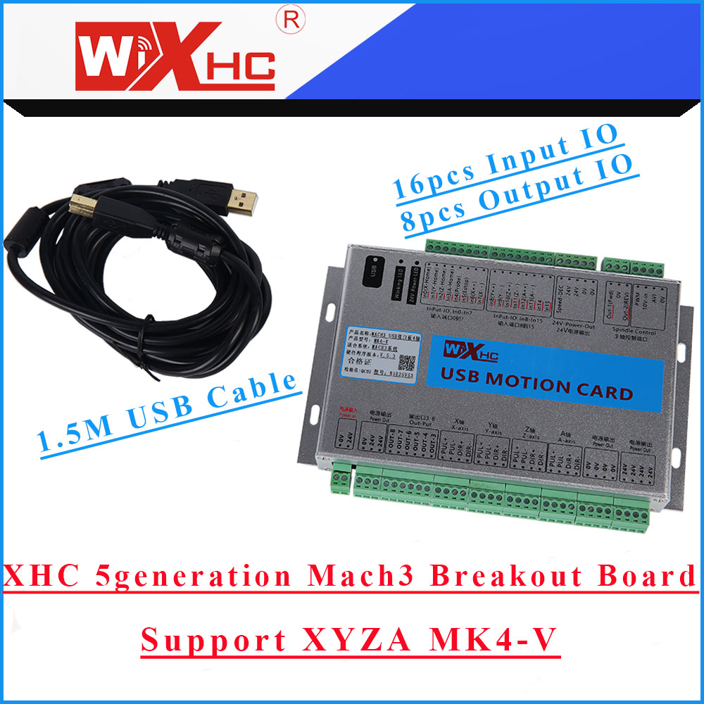 Mach3 cnc control software for windows 32 bit systems - New Upgrade Xhc Mk4 V Cnc Mach3 Usb 4 Axis Motion Control Card Breakout Board