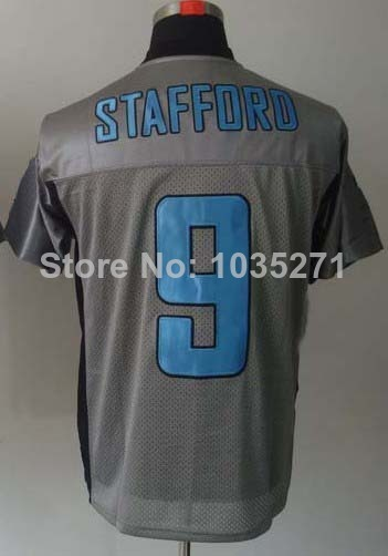 Wholesale Price #9 Matthew Stafford Jersey,Lights Out Grey,Lights Out Black,Top Quality Jerseys,Embroidery Logos