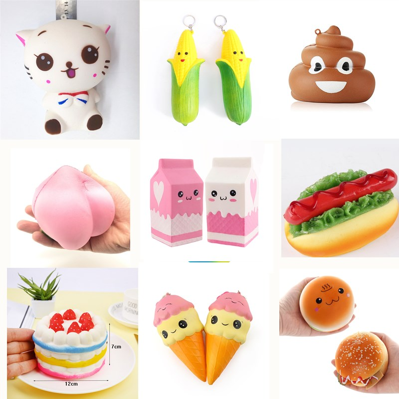 Squishy Toys Squeeze Cute Unicorn Scented Squishy Toys for Children Funny Slow Rising Anti Stress Novelty Toys Gift Slime Toys