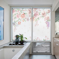 Customized size windows Glass Film Door Stickers waterproof Static Cling Privacy Glass Window Film for bathroom home decor FL001