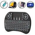Топ Продаж НОВОГО Продукта Мини 2.4 Г 3 Цвет Подсветкой Беспроводной Тачпад Клавиатура Air Mouse Для ПК Pad Android TV коробка/X360/PS345