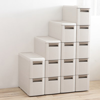 Multi layer Drawer Storage Cabinet Plastic Slot Storage Box Simple Pulley Combination Storage Bins