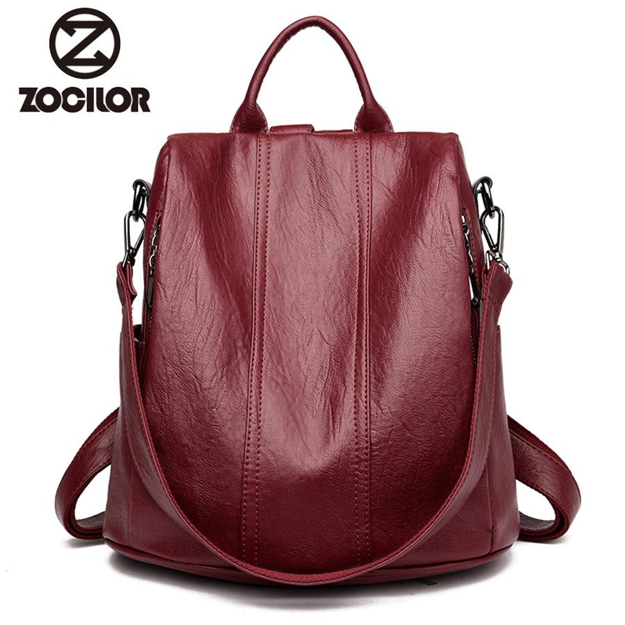 Fashion 2018 Women Backpack Youth Leather Vintage Backpacks for Teenage Girls Female School Bag Bagpack mochila sac a dos fashion gold leather backpack women black vintage large bag for female teenage girls school bag solid backpacks mochila xa56h