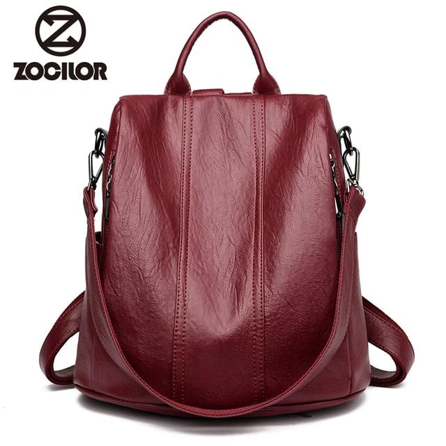 Fashion 2018 Women Backpack Youth Leather Vintage Backpacks for Teenage Girls Female School Bag Bagpack mochila sac a dos