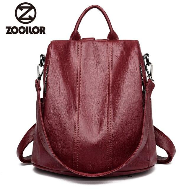 Moda 2018 kadın sırt çantası gençlik deri Vintage gençler için sırt çantaları kızlar kadın okul çantası sırt çantası mochila kese dos