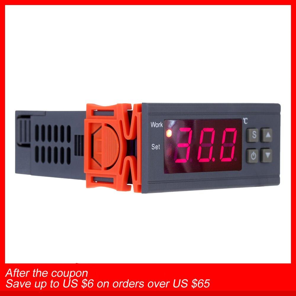 250 v 10A Numérique thermomètre Thermorégulateur thermostat Régulateur de température pour incubateur Thermocouple-50 ~ 110 Degrés + Capteur