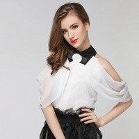 1pcs Ladies Plus Size Chiffon Blouses Tops 2017 Summer Chiffon Falbala Sleeveless Primer Shirt Women S
