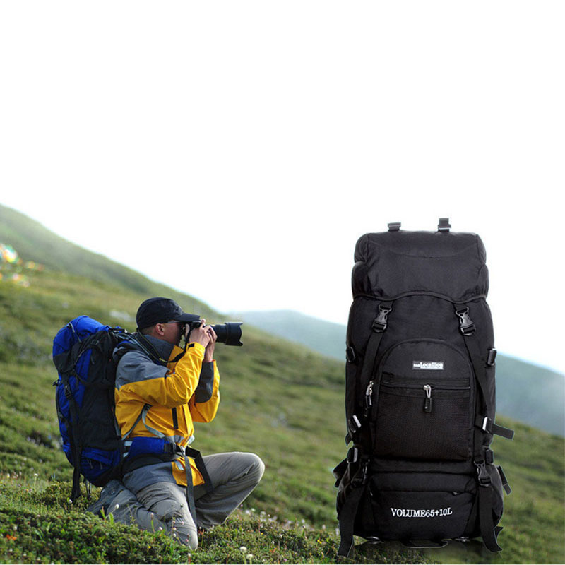 75L Large Capacity Professional Waterproof Rucksack External Frame Climbing Camping Hiking Backpack Mountaineering Bag 75l external frame support outdoor backpack mountaineering bag backpack men and women travel backpack a4809
