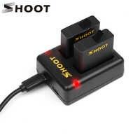 Зарядное устройство с двумя портами для камеры GoPro Hero 8, 7, 6, 5, 2 шт ., аккумулятор 1220 мАч , сменный аксессуар для камеры GoPro 8, 7, 6, 5