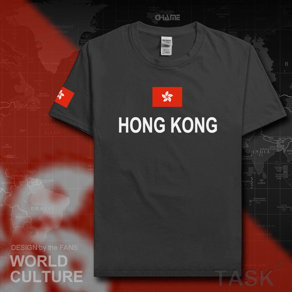 Design your own t shirt hong kong - Hong Kong Mens T Shirts Fashion 2017 Gyms Jerseys Nations Cotton T Shirt Hongkong Fitness China Clothing Tees Country Flags Hk