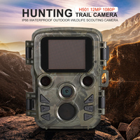PDDHKK 2.4 Inch LCD Display 1080P 16MP Mini Trail Wildlife Camera Photo Traps Hunting Camera with IR Night Vision Video Captures